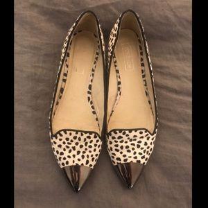 TopShop faux Dalmatian Print &  mirrored toe flat